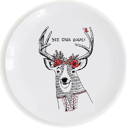 тарелка с оленем