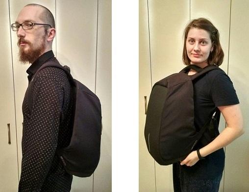 Геннадий Козлов, его жена и рюкзак XD Design Bobby XL