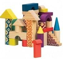 """Набор деревянных кубиков """"Еловый домик"""""""