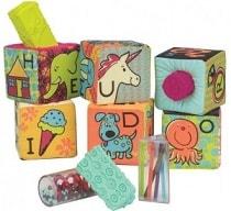 развивающие мягкие кубики-сортеры АВС