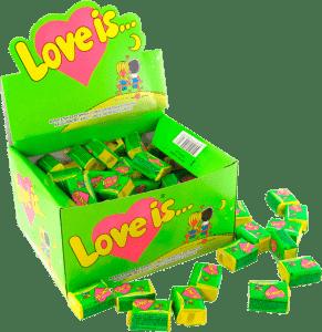 Блок жвачек 'Love is...'