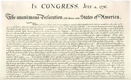 первая электронная книга - Декларация независимости США