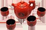 Чайный сервиз Delizia Красный дракон из 5 предметов