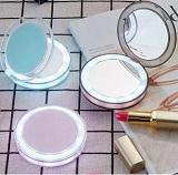 Карманное зеркало для макияжа с LED подсветкой