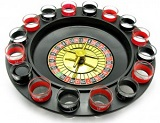 Настольная игра 'Рулетка с рюмками' черная 33х33х9 см