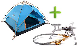 Купи палатку - получишь газовую горелку в подарок!