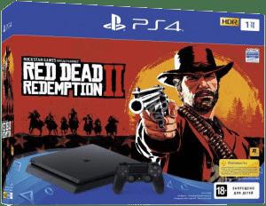 Комплект Sony PlayStation 4 Slim 1 Tb + Red Dead Redemption 2