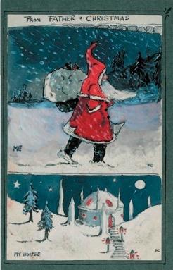 """иллюстрации книги Толкина """"Письма рождественского деда"""""""